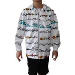 Decoration Element Style Pattern Hooded Wind Breaker (kids)