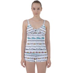 Decoration Element Style Pattern Tie Front Two Piece Tankini