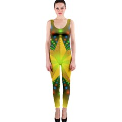 Christmas Star Fractal Symmetry Onepiece Catsuit