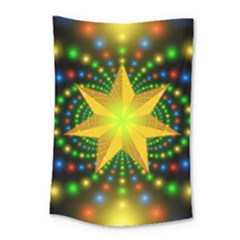 Christmas Star Fractal Symmetry Small Tapestry