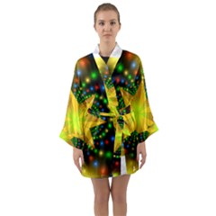 Christmas Star Fractal Symmetry Long Sleeve Kimono Robe