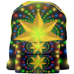 Christmas Star Fractal Symmetry Giant Full Print Backpack