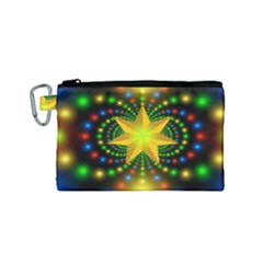 Christmas Star Fractal Symmetry Canvas Cosmetic Bag (small)