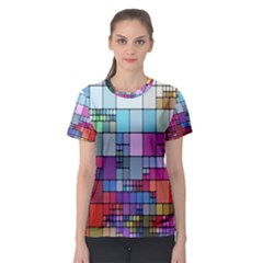 Color Abstract Visualization Women s Sport Mesh Tee