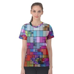 Color Abstract Visualization Women s Cotton Tee