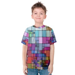 Color Abstract Visualization Kids  Cotton Tee