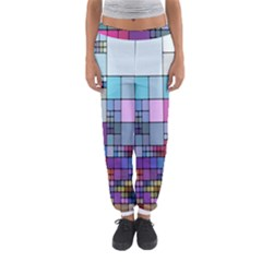 Color Abstract Visualization Women s Jogger Sweatpants