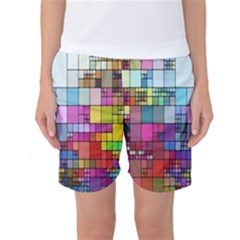 Color Abstract Visualization Women s Basketball Shorts