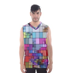 Color Abstract Visualization Men s Basketball Tank Top