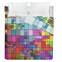 Color Abstract Visualization Duvet Cover Double Side (queen Size)