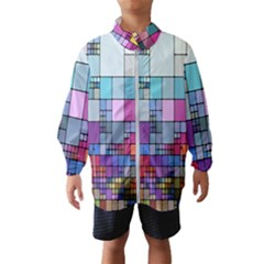 Color Abstract Visualization Wind Breaker (kids)