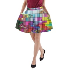 Color Abstract Visualization A Line Pocket Skirt