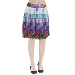Color Abstract Visualization Pleated Skirt