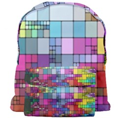 Color Abstract Visualization Giant Full Print Backpack
