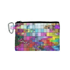 Color Abstract Visualization Canvas Cosmetic Bag (small)