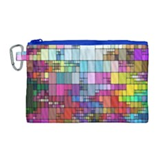 Color Abstract Visualization Canvas Cosmetic Bag (large)