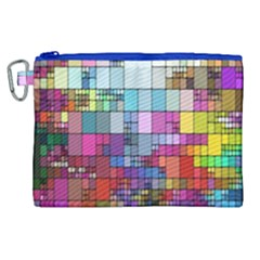 Color Abstract Visualization Canvas Cosmetic Bag (xl)