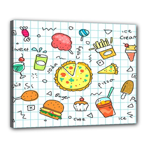 Colorful Doodle Soda Cartoon Set Canvas 20  X 16