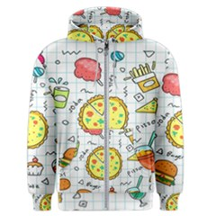 Colorful Doodle Soda Cartoon Set Men s Zipper Hoodie