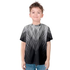 Feather Graphic Design Background Kids  Cotton Tee