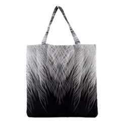 Feather Graphic Design Background Grocery Tote Bag