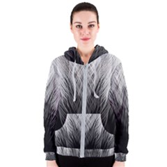Feather Graphic Design Background Women s Zipper Hoodie
