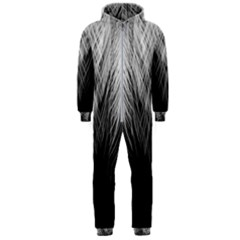 Feather Graphic Design Background Hooded Jumpsuit (men)