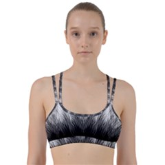 Feather Graphic Design Background Line Them Up Sports Bra