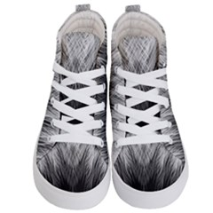 Feather Graphic Design Background Kid s Hi Top Skate Sneakers