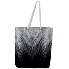 Feather Graphic Design Background Full Print Rope Handle Tote (large)