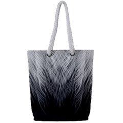 Feather Graphic Design Background Full Print Rope Handle Tote (small)