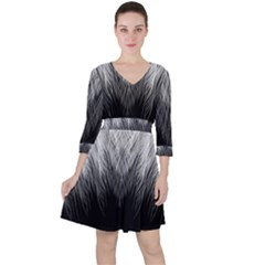 Feather Graphic Design Background Ruffle Dress