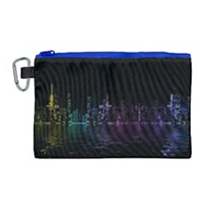 City Night Skyscrapers Canvas Cosmetic Bag (large)