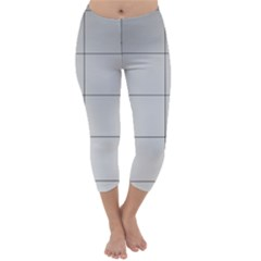 Abstract Architecture Contemporary Capri Winter Leggings
