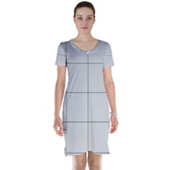Abstract Architecture Contemporary Short Sleeve Nightdress