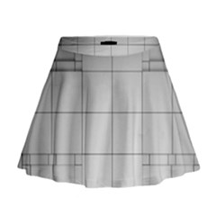 Abstract Architecture Contemporary Mini Flare Skirt
