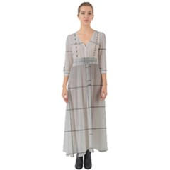 Abstract Architecture Contemporary Button Up Boho Maxi Dress