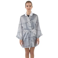 Abstract Architecture Contemporary Long Sleeve Kimono Robe