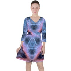 Sacred Geometry Mandelbrot Fractal Ruffle Dress