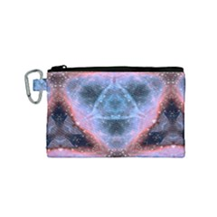 Sacred Geometry Mandelbrot Fractal Canvas Cosmetic Bag (small)