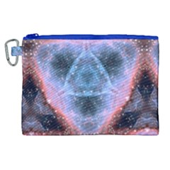 Sacred Geometry Mandelbrot Fractal Canvas Cosmetic Bag (xl)