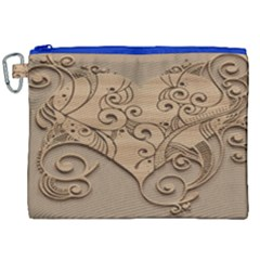 Wood Sculpt Carved Background Canvas Cosmetic Bag (xxl)