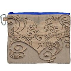 Wood Sculpt Carved Background Canvas Cosmetic Bag (xxxl)