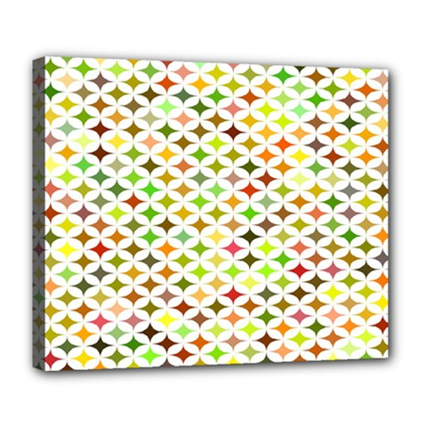 Background Multicolored Star Deluxe Canvas 24  X 20
