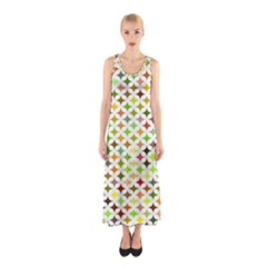 Background Multicolored Star Sleeveless Maxi Dress
