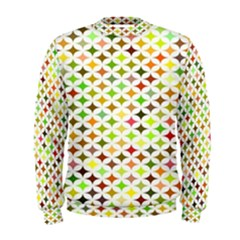 Background Multicolored Star Men s Sweatshirt