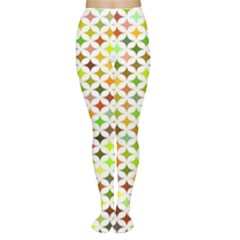 Background Multicolored Star Women s Tights