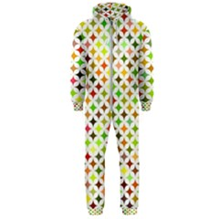 Background Multicolored Star Hooded Jumpsuit (men)