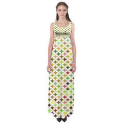 Background Multicolored Star Empire Waist Maxi Dress