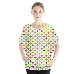 Background Multicolored Star Blouse
